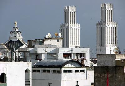 Twin Towers Skyline von Rabat