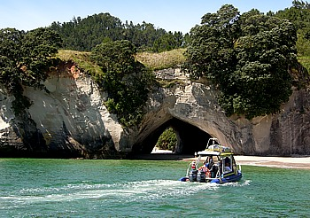Boat excursion to Cathedral Cove