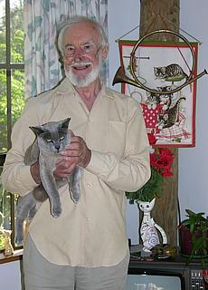 Gordon Pearce, Eigentümer des Cosy Cat Cottage