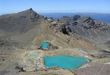 Wanderung Tongariro Crossing - Emerald Lakes