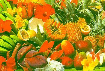 Ananas, Papayas, Bananas, Mango, Guaven