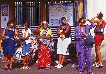 Bushaltestelle in St. Denis