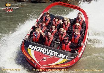 Rasende Fahrt auf dem Shotover River