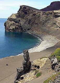 Vulkanregion Capelinhos auf Faial (Juli)
