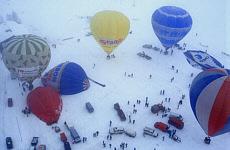 Heißluftballonstart in Filzmoos (Januar)
