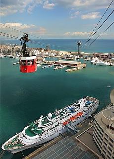 Seilbahn Transpordador Aeri zum Hafen (August)