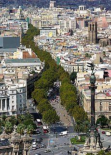 Grünes Band Las Ramblas in Barcelona (März)