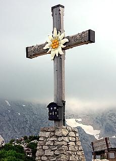 Gipfelkreuz am Kehlsteinhaus (November)