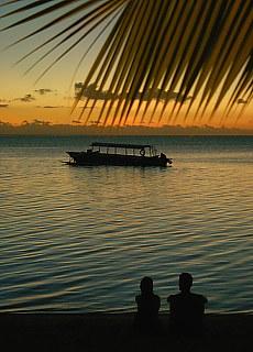Sonnenuntergang am Matira Point auf Bora Bora (September)