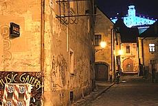 Altstadt Bratislava mit Burg Hrad (November)
