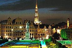 Brüssel Rathaus bei Nacht (Dezember)