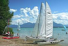 Segelboote an der Fraueninsel (September)