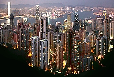 Skyline von Hongkong (November)