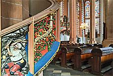 Bergbau Motive in der St.Annenkirche in Annaberg-Buchholz (Dezember)