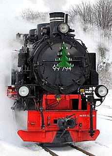 Dampfeisenbahn Nostalgie am Fichtelberg (Dezember)