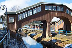 Bahnhof Erzgebirgsbahn Thermalbad Wiesenbad (Januar)