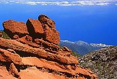 Felsformation beim Roque de los Muchachos (Juli)