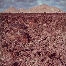 Junge Lava auf Lanzarote (November)