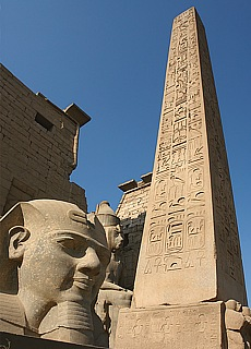 Obelisk im Luxor Tempel (April)