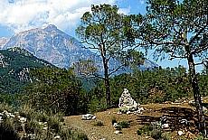 Blick zum Tahtali Dagi (2365 m) bei Ulupinar (Juni)