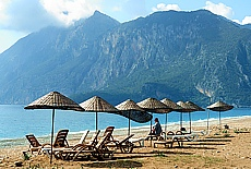 Lykische Küste am Strand von Cirali (Februar)