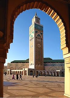 Moschee Hassan II in Casablanca (Februar)