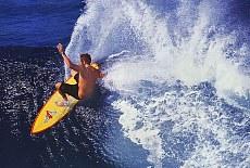 Wellenreiter auf Oahu (August)