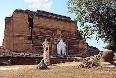 Erdbebengeschädigte Mingun Paya in Mandalay (März)