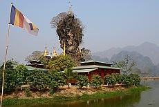 Kloster Kyauk Ka Lat bei Hpa-an (Juli)