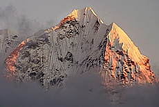Sonnenaufgang auf dem Mendaphu Hill (September)