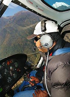 Hubschrauberflug von Syangboche nach Lukla (August)
