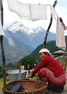 Annapurna Süd bei Majgaun (März)