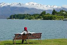 Am Lake Wanaka (Januar)