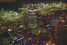 Auckland bei Nacht (Dezember)