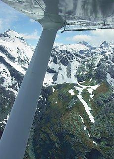 Flug von Wanaka zum Milford Sound in Neuseeland (Oktober)