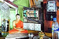 Stromversorgung in Sri Lanka (April)