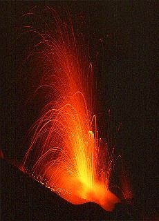 Aktiver Vulkan Stromboli (August)