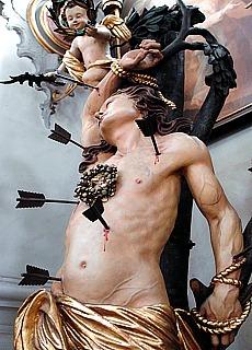Leidender Johannes in der Toblacher Barockkirche (Dezember)