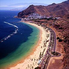Playa Teresitas auf Teneriffa (April)
