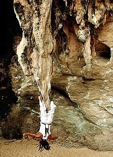 Klettern an den Karstfelsen von Raileh (November)