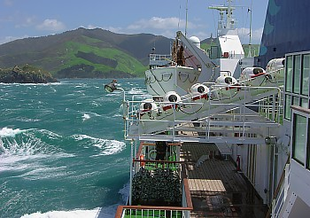 Stormy passage with Interislander through the dreaded Cook Strait