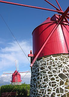 Windmühlen auf Faial (April)