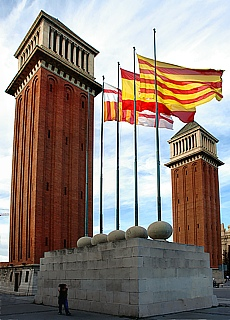 Stadtrundfahrt Plaça Espanya Barcelona (Juli)