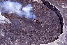 Pu'u O'o Krater auf Big Island Hawaii (August)