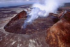 Feuriger Pu'u O'o im Volcano Nationalpark (Juni)