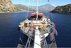 Kaya Yachting Gulet Tersane 10 in der Bucht von Gemiler (Mai)