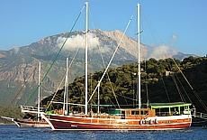 Babadag Mountain in der Bucht von Gemiler (Dezember)