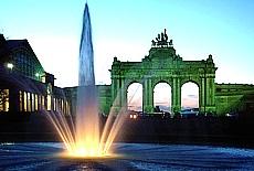 Springbrunnen am Jubelpark (Februar)