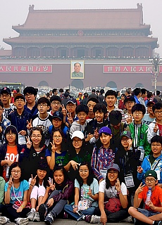 Auf dem Platz des Himmlischen Friedens in Peking (Mai)