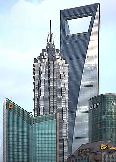 Skyline von Shanghai (Januar)